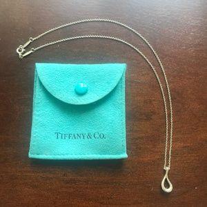 Tiffany Elsa Peretti Sterling Silver Teardrop